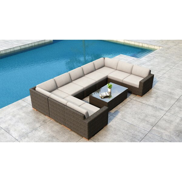 Glen Ellyn 10 Piece Sectional Seating Group with Sunbrella Cushions by Everly Quinn