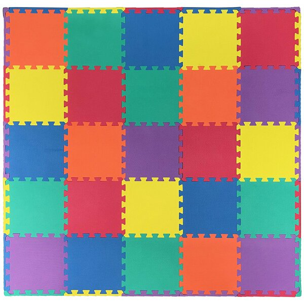 Anti-Fatigue Interlocking Puzzle Eva Foam Mat Tile by Ottomanson