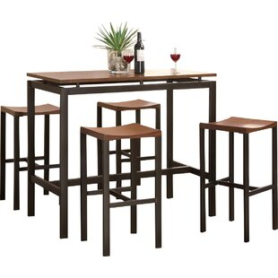 modern wood dining room sets. Swigart 5 Piece Pub Table Set Modern Wood Dining Room Sets