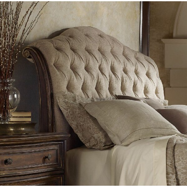 Adagio Upholstered Sleigh Headboard by Hooker Furniture