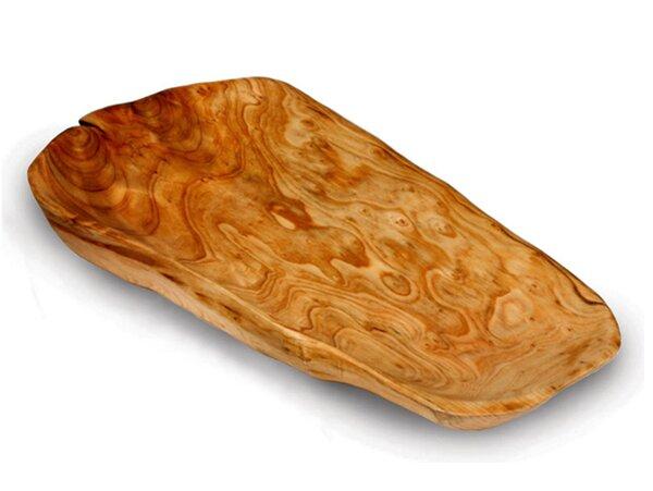 Pares Rectangular Wood Platter by Bloomsbury Market