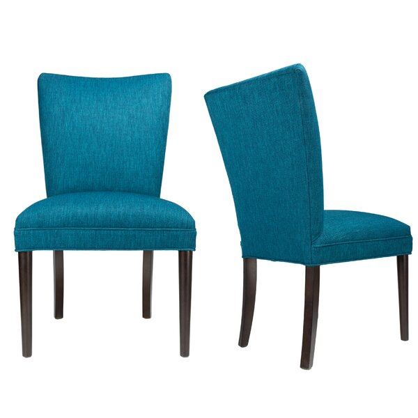 Alex Lucky Spring Seating Double Dow Roll-Back Upholstered Parsons Chair (Set Of 2) By Sole Designs Great price