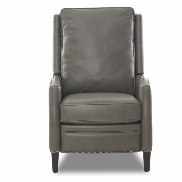 Bassford High Leg Leather Power Recliner by Canora