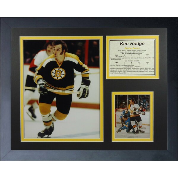 Ken Hodge - Boston Bruins Framed Photographic Print by Legends Never Die