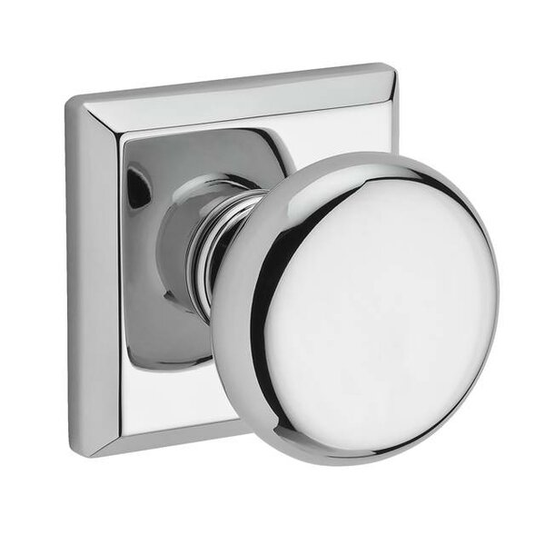 Round Privacy Door Knob with Traditional Square Ro