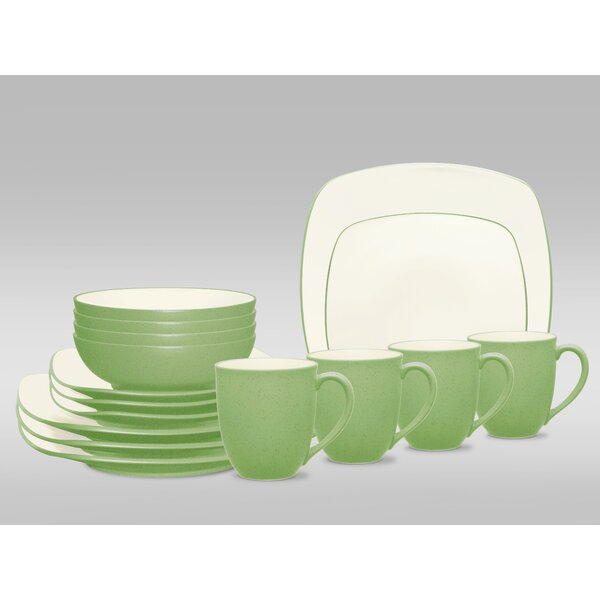Colorwave Square 16 Piece Dinnerware Set, Service for 4 by Noritake