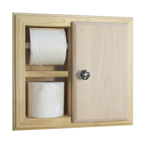 Recessed Toilet Paper Holder by WG Wood Products
