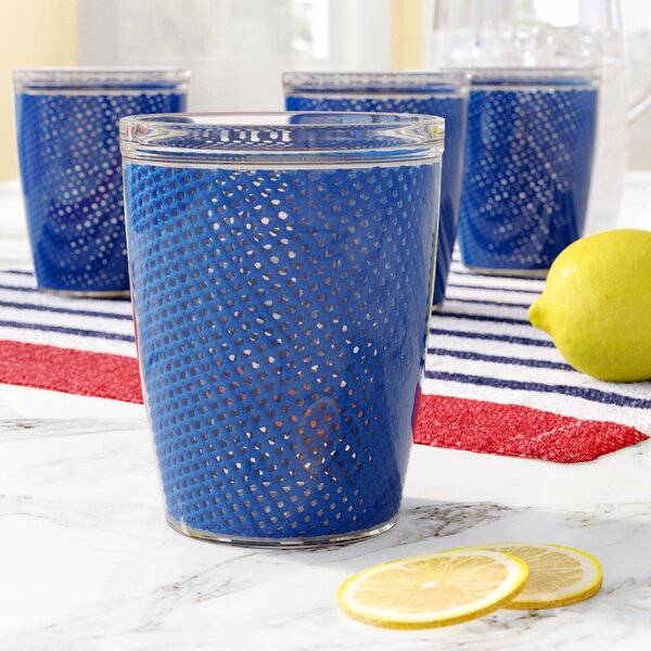Fishnet 14 Oz Plastic Every Day Glass Set Of 4 By Highland Dunes.
