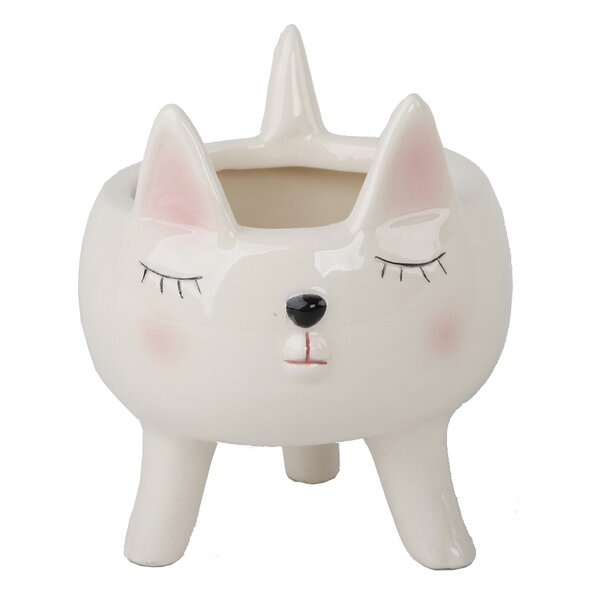 Orrwell Cute Cat Pot Planter by Ebern Designs