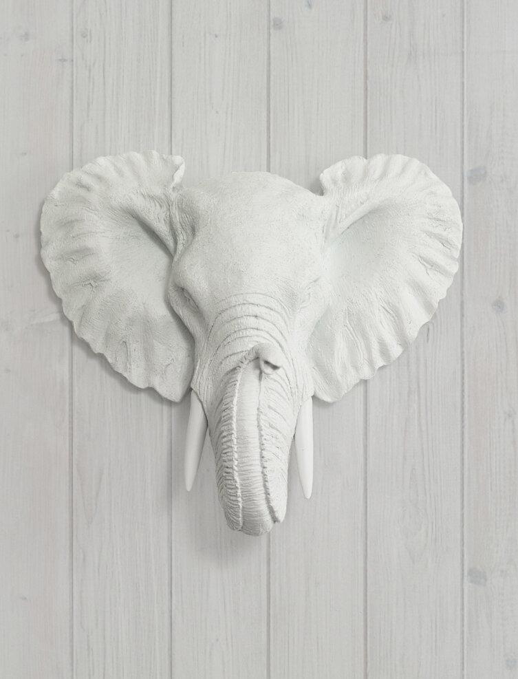 Faux Taxidermy Mini Elephant Head Wall