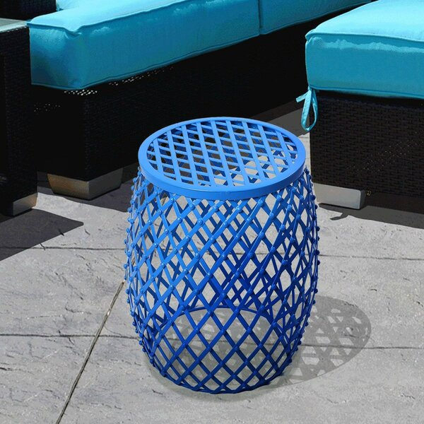 Emmaleigh Metal Weaved Garden Stool by Wrought Studio