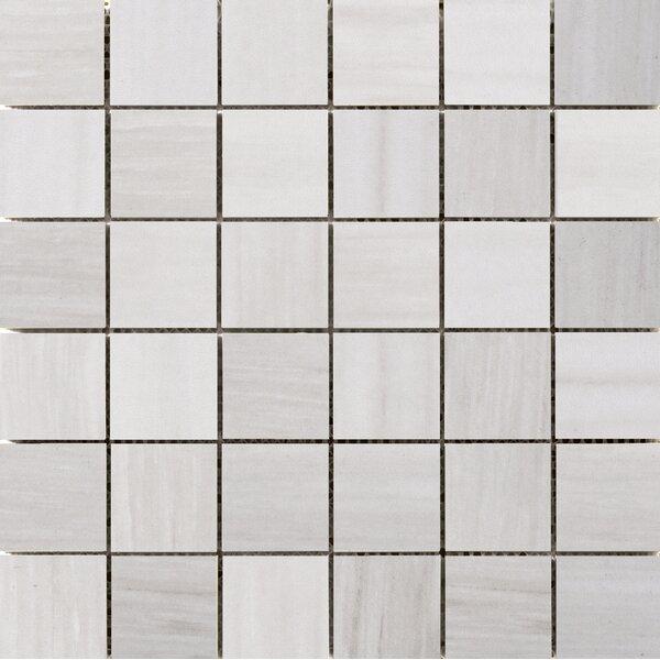 Latitude 2 x 2 Porcelain Mosaic Tile in Ivory by Emser Tile