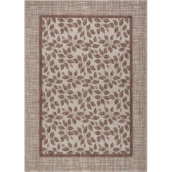 Key Haven Floral Natural Indoor/Outdoor Area Rug