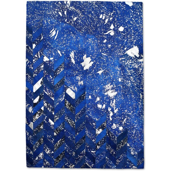 Blue/Silver Area Rug by Modern Rugs
