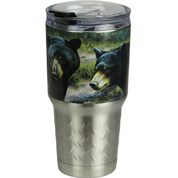 Wanneroo Bears 24 oz. Stainless Steel Travel Tumbler by Millwood Pines