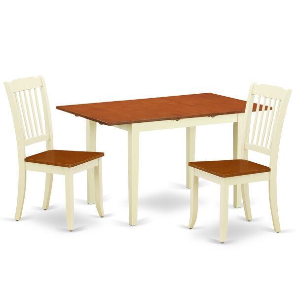 Laivai 3 Piece Extendable Solid Wood Dining Set by August Grove