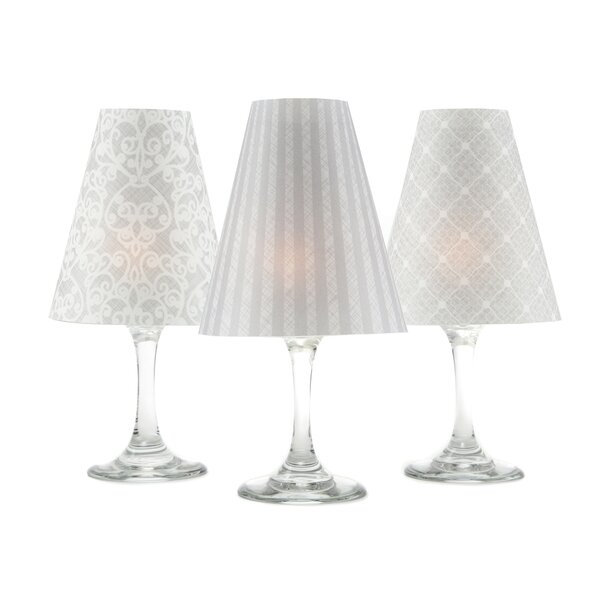Linen & Lace 6 Piece Wine Lamp Shade Set by di Potter