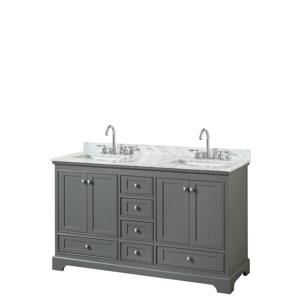 Deborah 60 Double Bathroom Vanity Set by Wyndham Collection