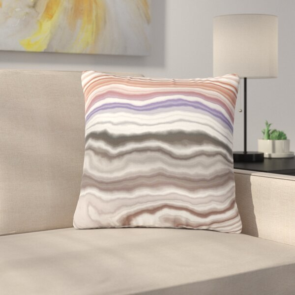 Iris Lake Bed Geological Abstract Outdoor Throw Pillow by East Urban Home