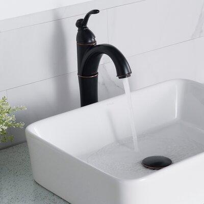 Edgemere White Ceramic Rectangular Console Bathroom