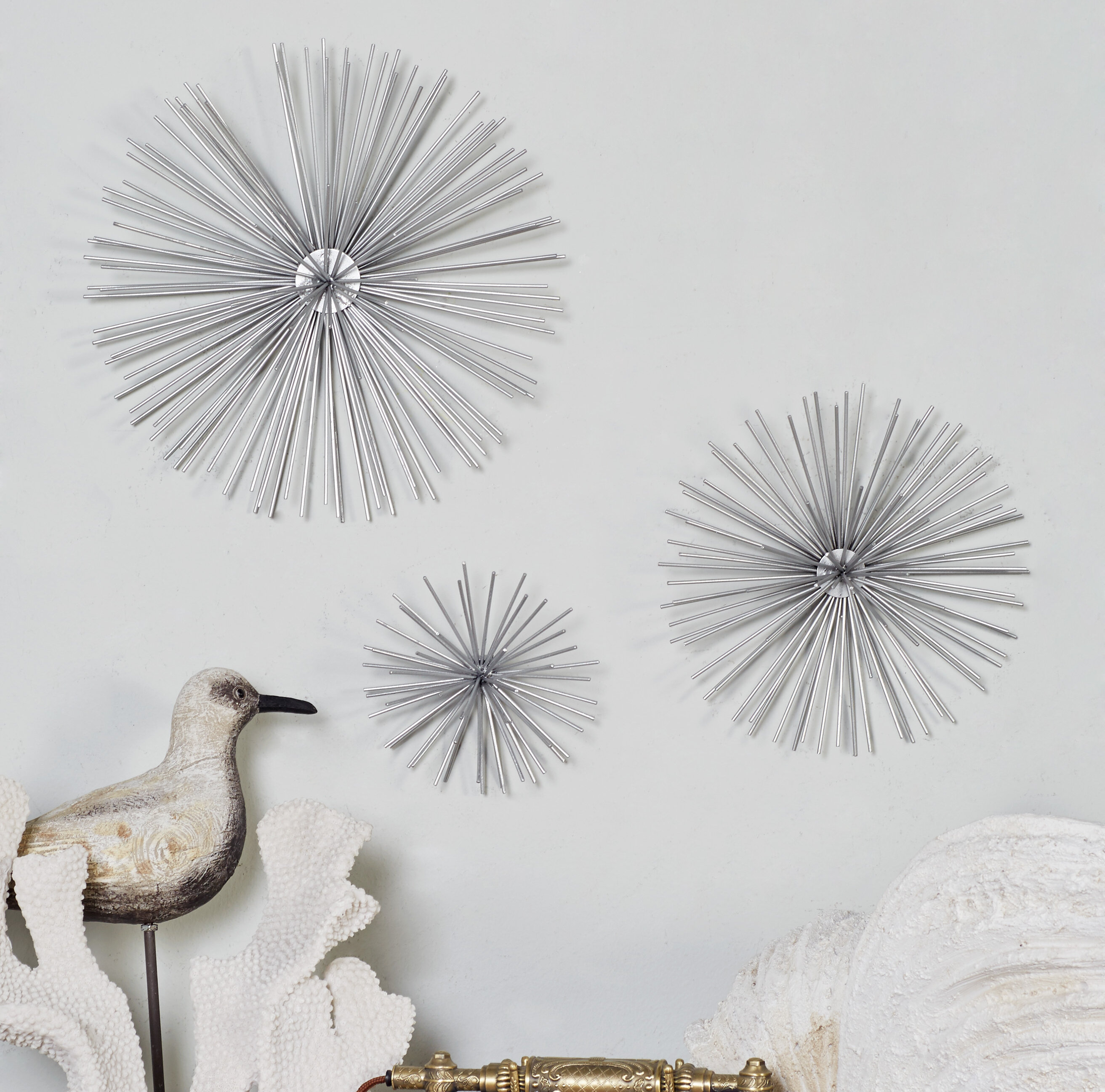 Langley Street 3 Piece Star Metal Wall Decor Set Reviews