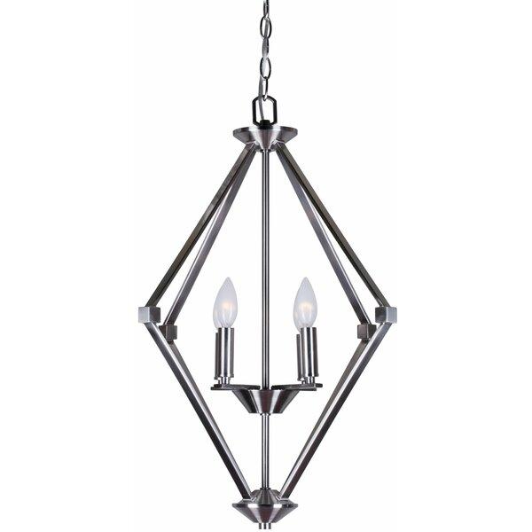 Magdalene 4-Light Geometric Chandelier By Charlton Home