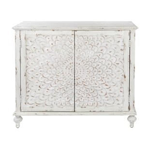 Affordable Edgeworth Carved Front 2 Door Accent Cabinet ByBungalow Rose