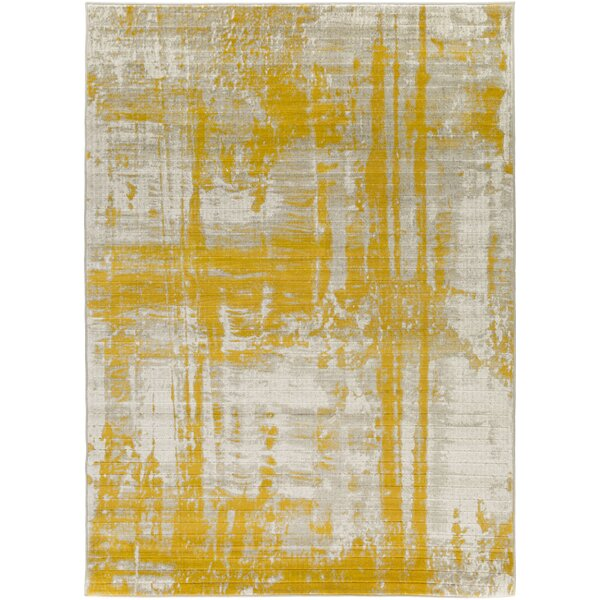 Jivaro Light Gray/Gold Area Rug by Langley Street
