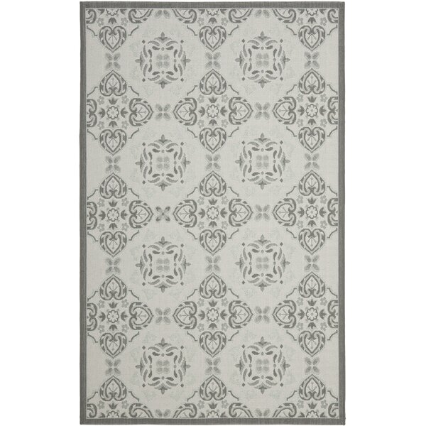 Short Light Grey/Anthracite Indoor/Outdoor Synthetic  Rug by Winston Porter