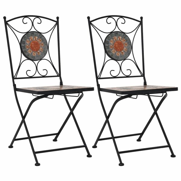 Femke Living Folding Patio Dining Chair (Set of 2) by Fleur De Lis Living