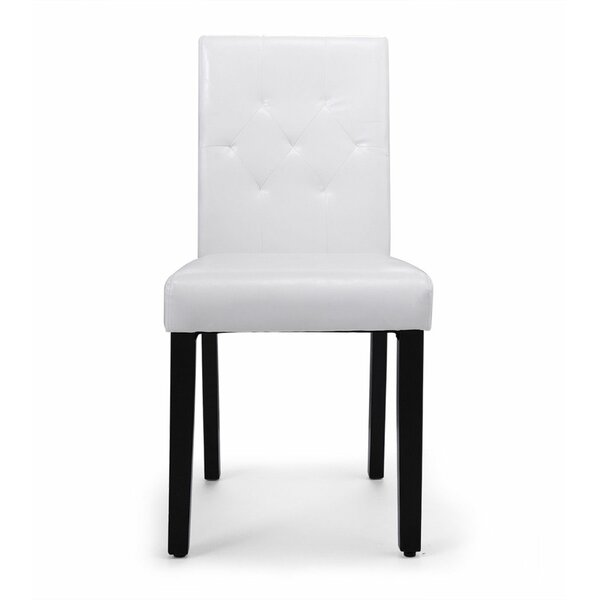 Hayots Tufted Upholstered Parsons Chair in White (Set of 4) by Winston Porter Winston Porter