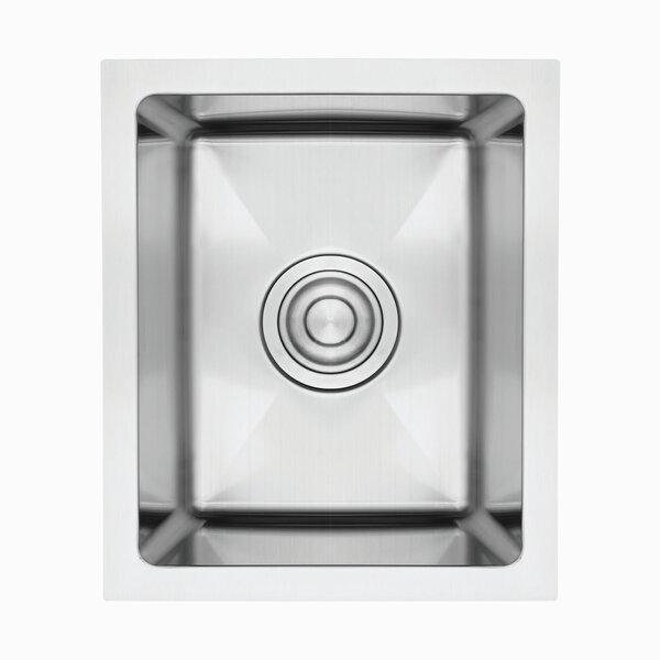12 L x 8 W Undermount Kitchen Sink with Basket Strainer