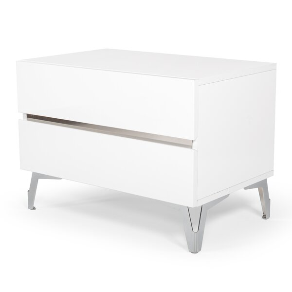 Kayna 2 Drawer Nightstand By Orren Ellis by Orren Ellis Reviews