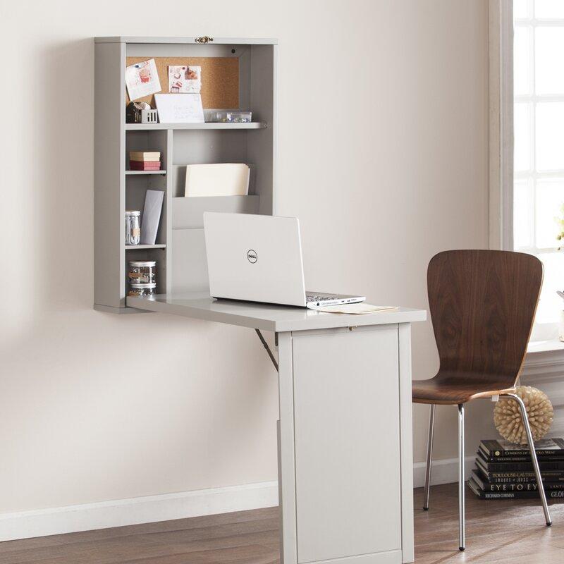 foldout convertible wall mount floating desk