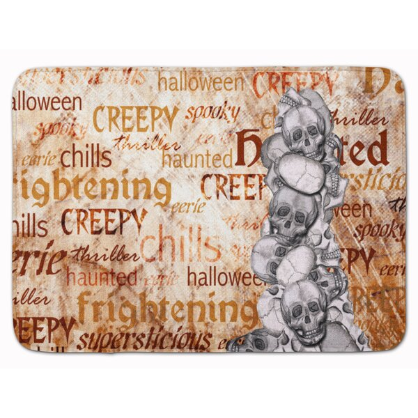 Eila Creepy, Haunted and Frightful Rectangle Microfiber Non-Slip Bath Rug