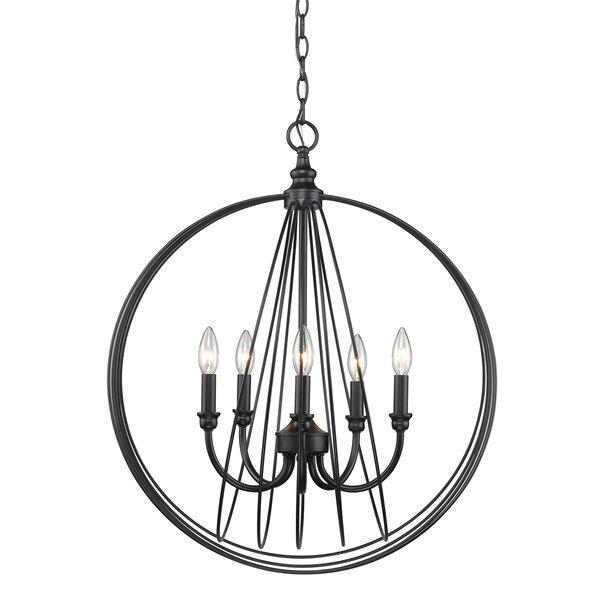Vecchio 5 - Light Candle Style Globe Chandelier by Gracie Oaks Gracie Oaks