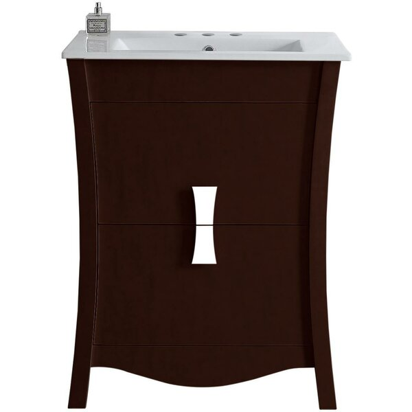 Cataldo Glazed Floor Mount 24 Single Bathroom Vanity Set by Royal Purple Bath Kitchen