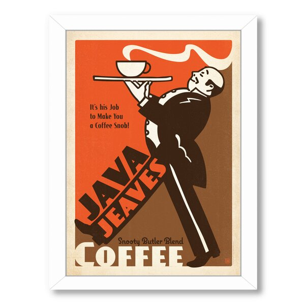 Coffee Java Jeaves Framed Vintage Advertisement by East Urban Home