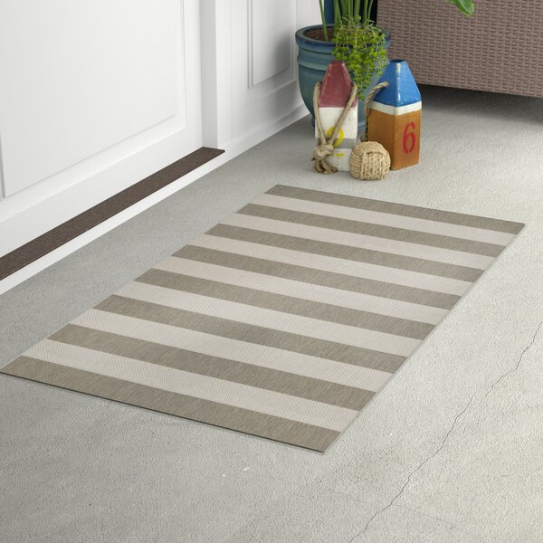 Gallinas Tan/Ivory Indoor/Outdoor Area Rug by Beachcrest Home