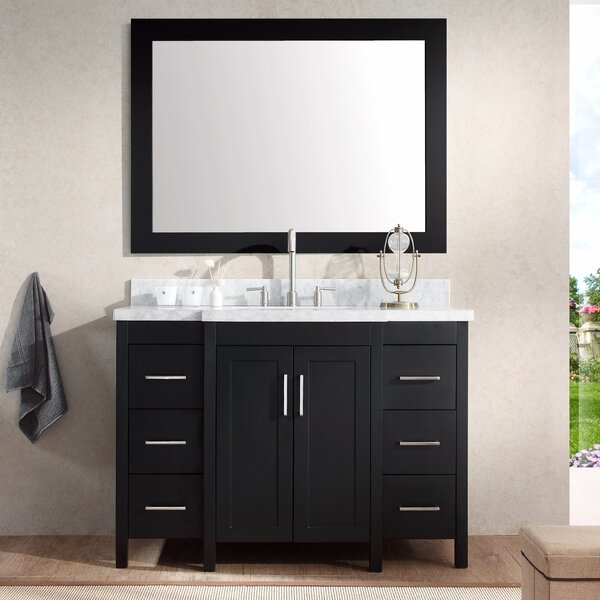 Hollandale 49 Single Sink Vanity Set with Mirror by Ariel Bath