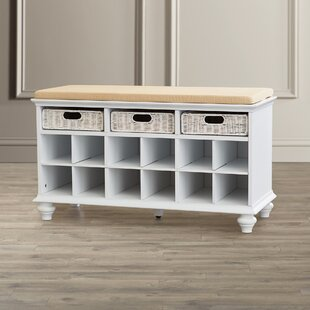 21.75 Traditional 6 Pair Shoe Storage Bench