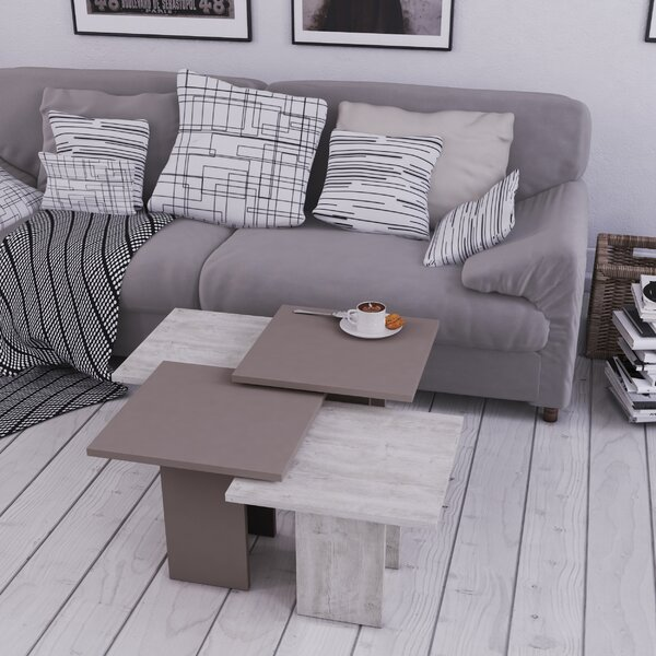 Teasley 4 Piece Coffee Table Set with Tray Top by Wrought Studio Wrought Studio