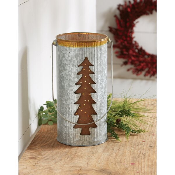 Tin Tree Metal Lantern by Mud Pie™