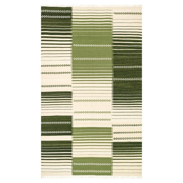 Beller Green/Ivory Area Rug by Ebern Designs
