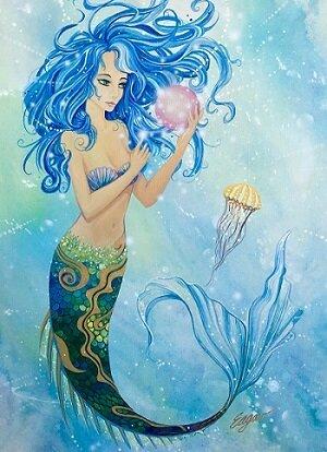 Raney Majestic Mermaid Canvas Art by Latitude Run