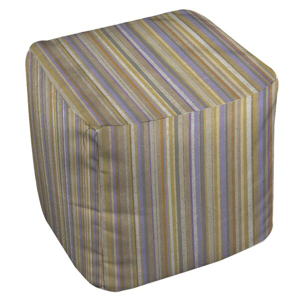 Plum Scene 2 Pouf by Manual Woodworkers & Weavers