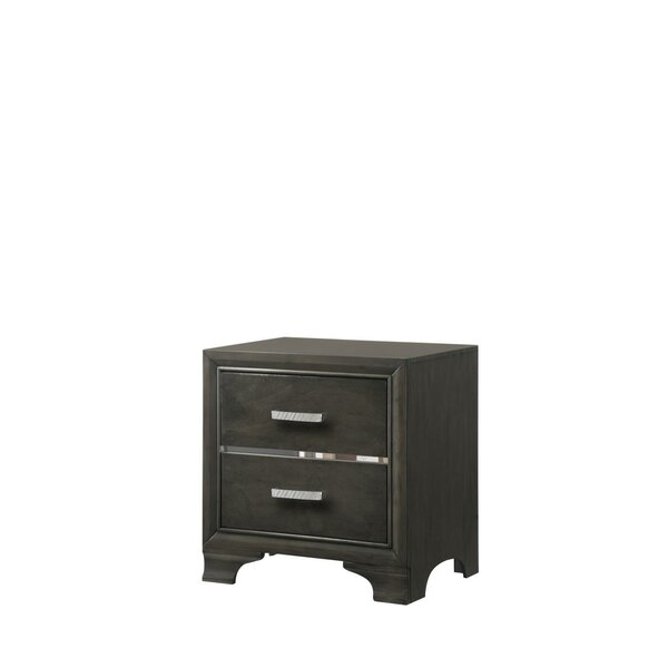 Jarosz 2 Drawer Nightstand by Brayden Studio