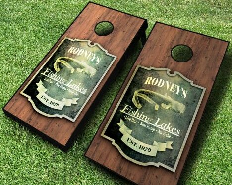 Personalized Fishing Cornhole Set by AJJ Cornhole