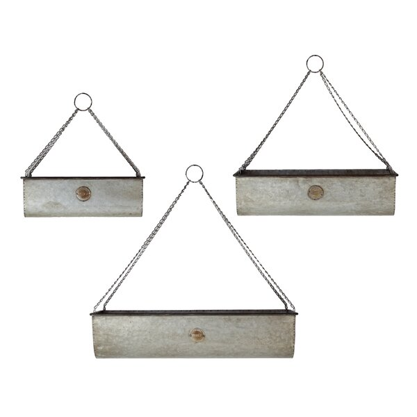 3-Piece Metal Hanging Planter Set by American Mercantile
