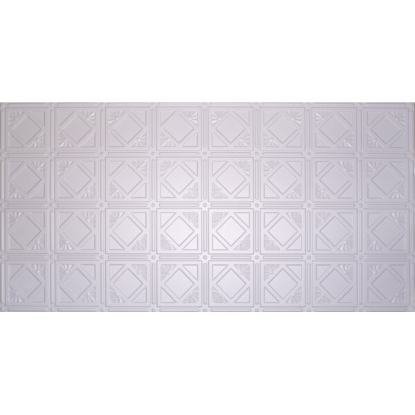 Glue Up Diamond 2 X 4 Tin Ceiling Tile In White By Global Specialty Products.